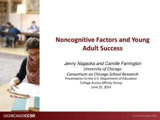 Presentation to the U.S. Department of Education  College Access Affinity Group June 25, 2014