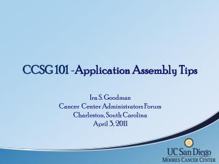 Identify CCSG Point Person
