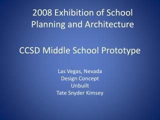 CCSD Middle School Prototype