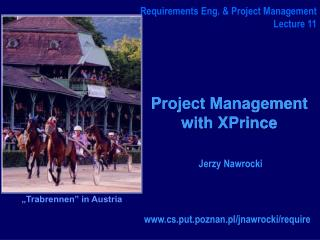 Project Management  with XPrince