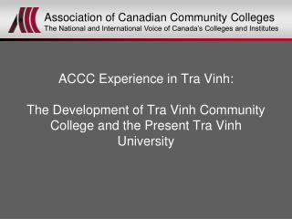 Association of Canadian Community Colleges