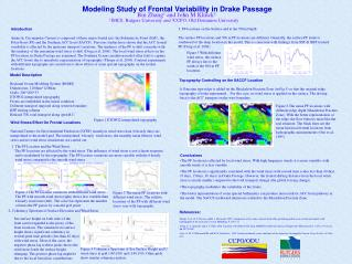Modeling Study of Frontal Variability in Drake Passage