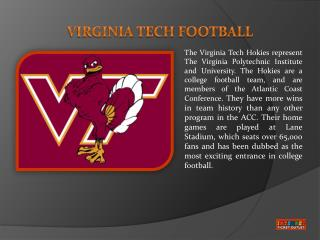 Virginia Tech Football Tickets Info