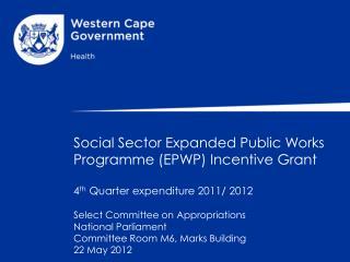 Background EPWP