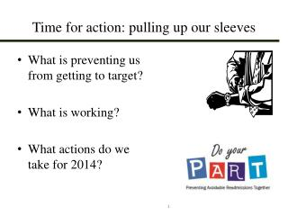 Time for action: pulling up our sleeves