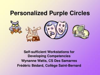 Personalized Purple Circles