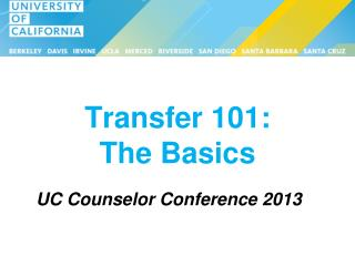 Transfer 101:  The Basics