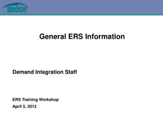 ERS Training Workshop