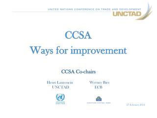 CCSA Ways for improvement