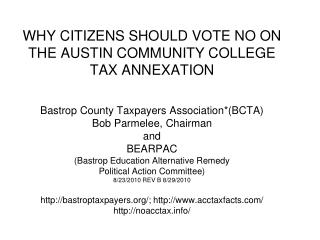 Bastrop is home to high taxation & wasteful spending