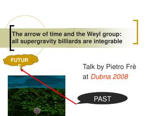 The arrow of time and the Weyl group in supergravity billiards