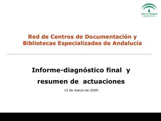 Red de Centros de Documentación y Bibliotecas Especializadas de Andalucía