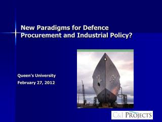 New Paradigms for Defence Procurement and Industrial Policy?