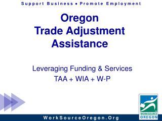 Oregon Trade Adjustment Assistance