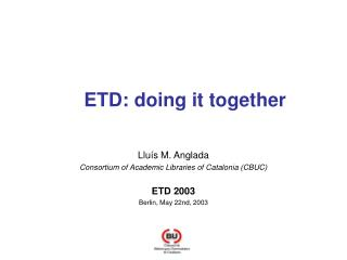 ETD: doing it together