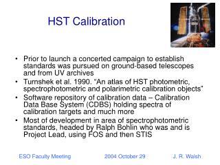 HST Calibration