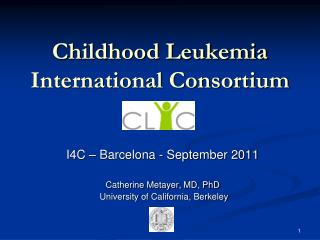 Childhood Leukemia International Consortium