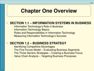 Chapter One Overview