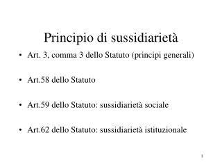 Principio di sussidiarietà