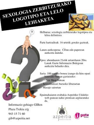 SEXOLOGIA ZERBITZURAKO LOGOTIPO ETA LELO LEHIAKETA