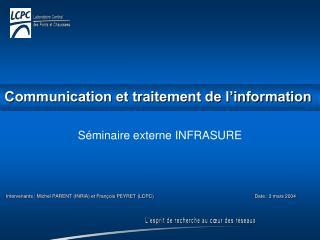 Communication et traitement de l'information