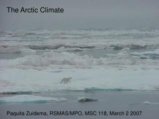 The Arctic Climate