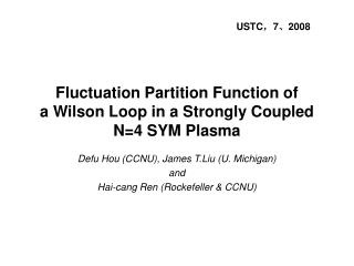 Fluctuation Partition Function of  a Wilson Loop in a Strongly Coupled N=4 SYM Plasma
