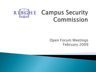 Campus Security Commission