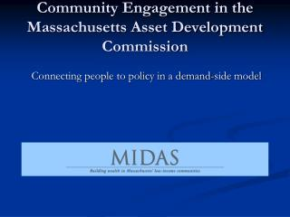 Community Engagement in the Massachusetts Asset Development Commission
