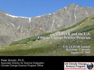 Peter Schultz, Ph.D. Associate Director for Science Integration