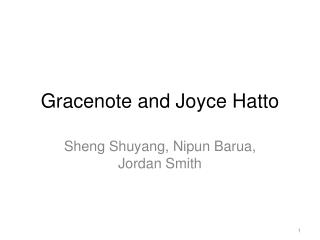 Gracenote and Joyce Hatto