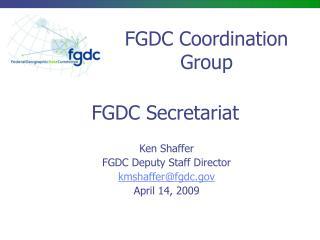 FGDC Secretariat