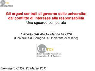 Gli organi centrali di governo delle università:  dal conflitto di interesse alla responsabilità