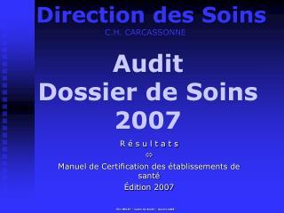 Audit Dossier de Soins 2007