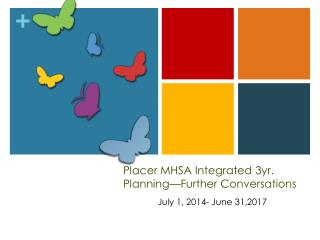 Placer MHSA Integrated 3yr. Planning�Further Conversations