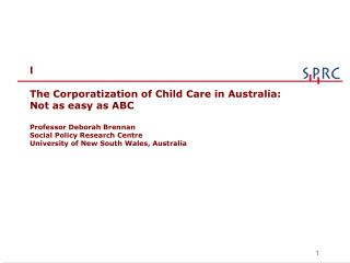 WELCOME TO THE WORLD OF AUSTRALIAN CHILD CARE!