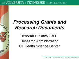 Processing Grants and Research Documents