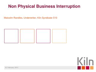 Non Physical Business Interruption