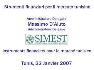 Strumenti finanziari per il mercato tunisino