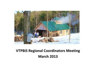 VTPBiS  Regional Coordinators Meeting March 2013
