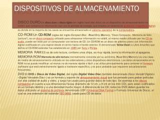 DISPOSITIVOS DE ALMACENAMIENTO