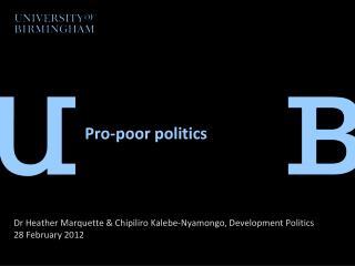 Pro-poor politics