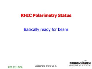 RHIC Polarimetry Status