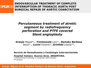 Granja Miguel et al. Hospital Italiano de Buenos Aires. Argentina.
