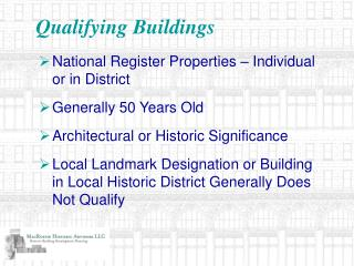 Qualifying Buildings