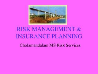 RISK MANAGEMENT  INSURANCE PLANNING