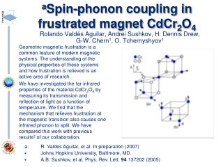 a Spin-phonon coupling in frustrated magnet CdCr 2 O 4