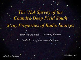 The VLA Survey of the  Chandra Deep Field South X-ray  Properties of Radio Sources