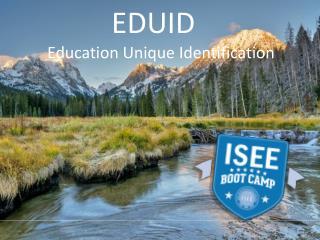EDUID            Education  Unique Identification