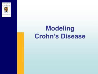 Modeling  Crohn�s Disease